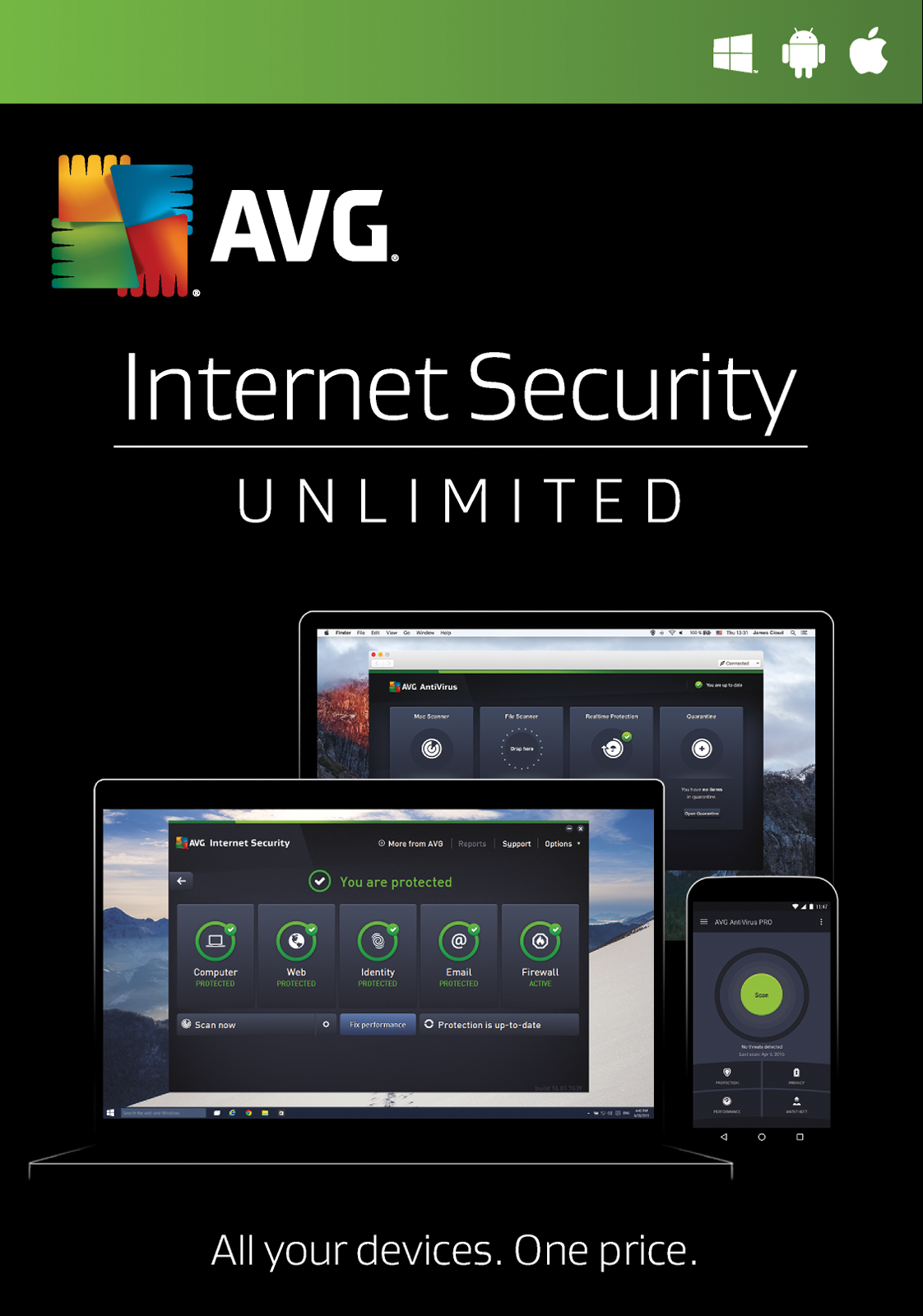 Avg internet security 2017 incl license 3 years