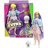 Barbie Extra Bambola con 10 Accessori alla Moda, Giocattolo per Bambini 3+ Anni, GVR05