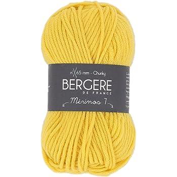 Bergère de France MERINOS 7 Pelote de Fil à Tricoter, Laine, Jaune, 13 x 8 x 8 cm 20994