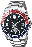 U.S. Polo Assn. Men's Quartz Metal and Alloy Casual Watch, Color Silver-Toned (Model: USC80500)