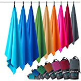 Fit-Flip Asciugamano in Microfibra – in Tutte Le Misure / 12 Colori – Compatto & Ultraleggero – Microfibra Asciugamano – Il P