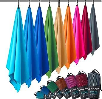Fit-Flip Microfaser Handtücher in Allen Größen / 12 Farben - Ultra leicht, kompakt, & schnelltrocknend - Mikrofaser Handtuch - das perfekte Sporthandtuch, Strandhandtuch und Reisehandtuch