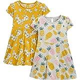 Simple Joys by Carter's Conjuntos de Vestido Corta y sin Mangas Bebé-Niñas, Pack de 2
