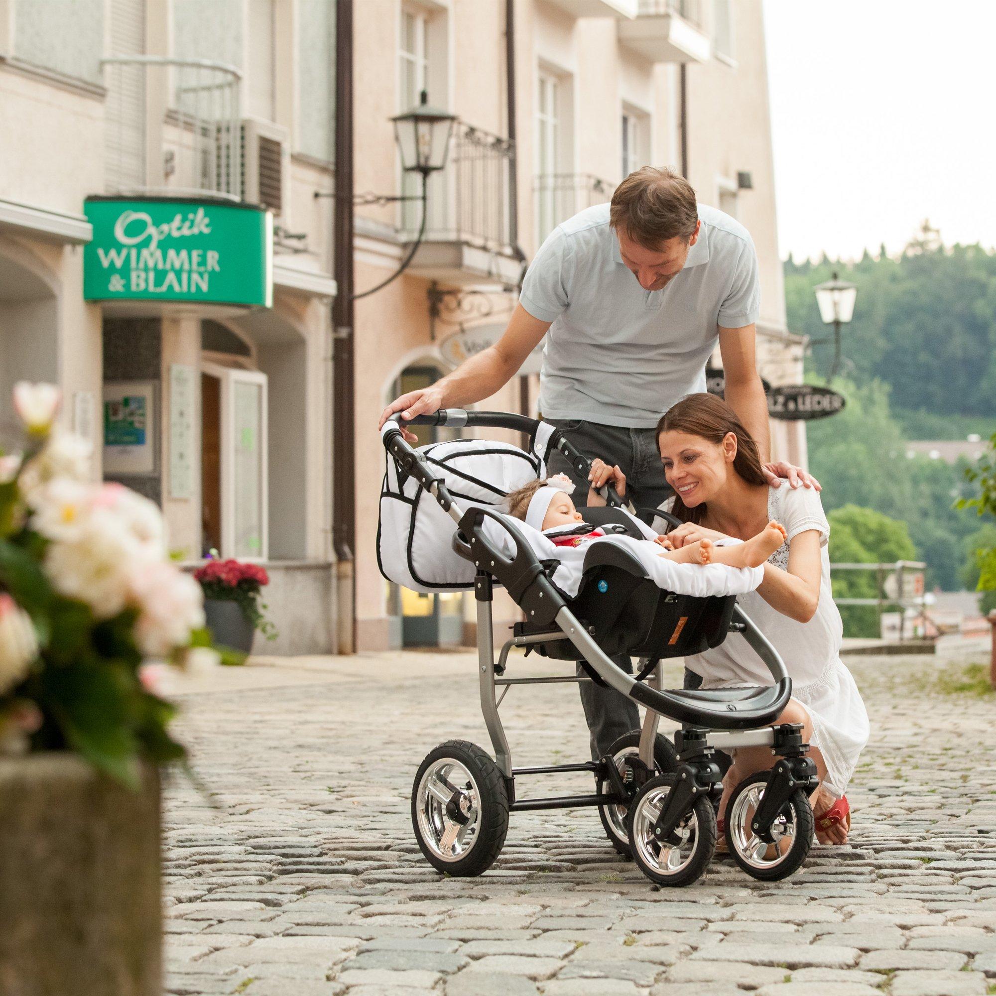 bergsteiger capri kinderwagen 3 in 1 kombikinderwagen. Black Bedroom Furniture Sets. Home Design Ideas
