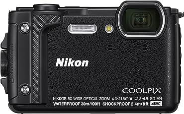 Nikon W300 Waterproof Underwater Digital Camera with TFT LCD (Black)