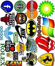 Elton 3M Vinyl Sticker Pack [20-Pcs] Plus Free Bonus Stickers Lovely 3M Vinyl Logo & Assorted - 1 Stickers for Laptop, Cars, Motorcycle, PS4. X Box One . Guitar Bicycle, Skateboard, Luggage - Waterproof Random Sticker Pack