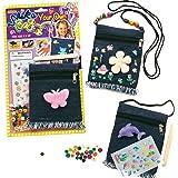 Baker Ross Schoudertassen knutselsets van denim voor kinderen om te knutselen en te versieren (3 stuks)