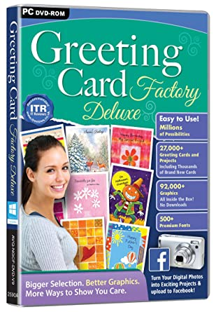 Greeting card factory deluxe pc amazon software greeting card factory deluxe pc negle Images