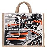 ECOTARA Elegant Forest 100% Natural Jute Lunch/Shopping Bag