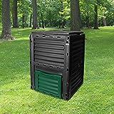 SKYLANTERN Composteur de Jardin 300L Vert Polypropylène - Bac à Composte Vert de Jardin, Poubelle à Compost en Plastique - Co