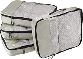 AmazonBasics Packing Cubes/Travel Pouch/Travel Organizer- Large, Grey