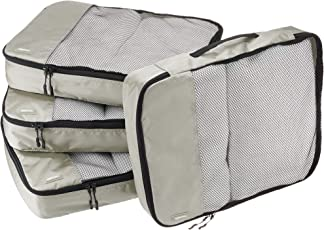 AmazonBasics Packing Cubes/Travel Pouch/Travel Organizer- Large, Grey