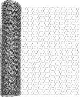 Aquagart Maschendrahtzaun 20m Sechseckgeflecht gr/ün I H/ühnerzaun Kaninchendraht Hasengitter feinmaschig 13 x 13 mm I 6-Eck Drahtgeflecht 0,8 mm I 100 cm hohe Hasendraht