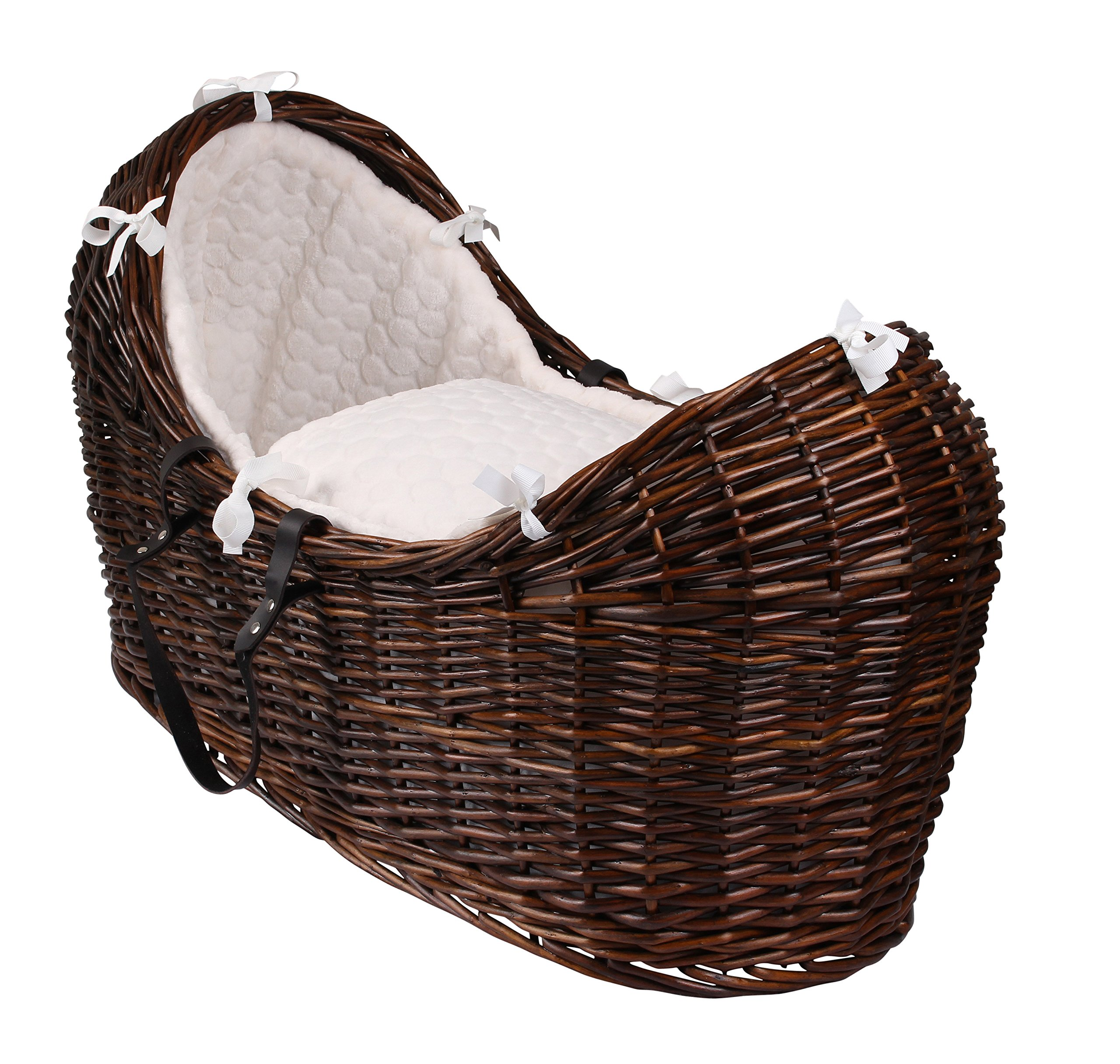 Clair de Lune Marshmallow Noah pod (Cream, Dark) Clair de Lune Made in the UK Soft, 100% Polyester Marshmallow fabric Available in a range of fabrics and Baskets 1
