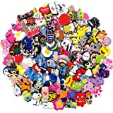 100 Pcs Different Shoe Charms for Shoes & Bracelet Wristband Kids Party Birthday Gifts