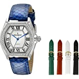 Peugeot Women's Five Interchangeable Leather Bands Watch Gift Set