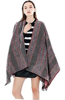 d79d628d980 Femme Fille rayée Rayures Ethno Extra Large Très Épais Écharpe Wrap Châles  Etole Ponchos