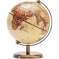 EXERZ 14cm Antiker Globus- Englische Karte - Metallbasis Bronzierte Farbe - Pädagogische/geografische/Moderne…