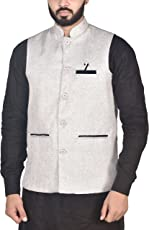 OORA Men's Woven Cotton Blend Nehru and Modi Jacket Ethnic Style For Party Wear -6 Colors Available