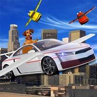 Futuriste Haut Vol Voiture: En volant 3d Simulateur