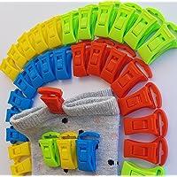 Alcrea 32 Pinces à chaussettes pour machine à laver et sèche-linge. Très confortable et rapide à accrocher, trier et…