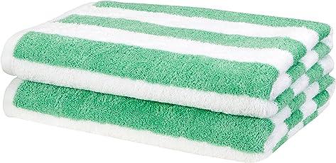 AmazonBasics Cabana Stripe 2 Piece 500 GSM Cotton Beach Towel