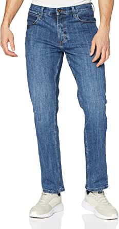 Wrangler Men's Authentic Straight Jeans, Blue (Mid Stone 14v), 40W / 30L