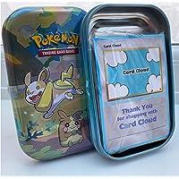 Card Cloud Pokemon Mini Tin Bundle with 50 Assorted Pokemon Cards plus Ultra Rare Card & Game Coin