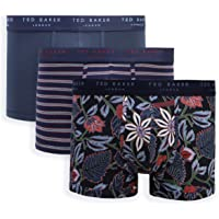 Ted Baker Mens 3 Pack Patterned Breathable Comfort Cotton Stretch Boxer Briefs