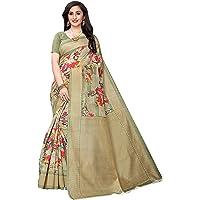 Anni Designer Women's Silk Printed Saree With Blouse Piece