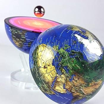 d52bd7c6b5ad9c Globe flottant électromagnétique sur socle livre atlas universel ...