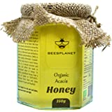 Organic Acacia Honey - Lovely Natural Taste Raw Honey - A Gift of Love Straight from The Beekeeper - Single Origin Pure Honey from Our Forest Farm in Romania - Unpasteurised, Premium Quality