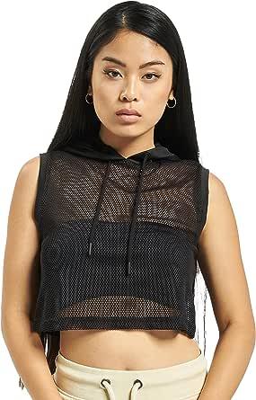 Urban Classics Ladies Mesh Cropped Hoody Sweatshirt Capuche Femme