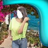 Macchina fotografica della ragazza del modello superiore della ragazza