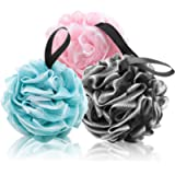 Shower Puff or Bath Sponge with Qualities of Body Scrubber Loofah Sponge. Good for Bathing Accessories or Shower…