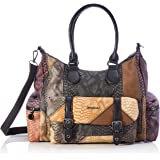 Desigual ACCESSORIES PU SHOULDER BAG, Borsa a tracolla. Donna, marrone, U