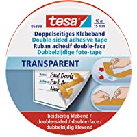 Tesa 05338-00000-01 Ruban adhésif Double-face 10 m:15 mm Transparent