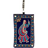 Kuber Industries Embroided Velvet Mobile Cover with Sari Hook, Multicolor (BG0166)
