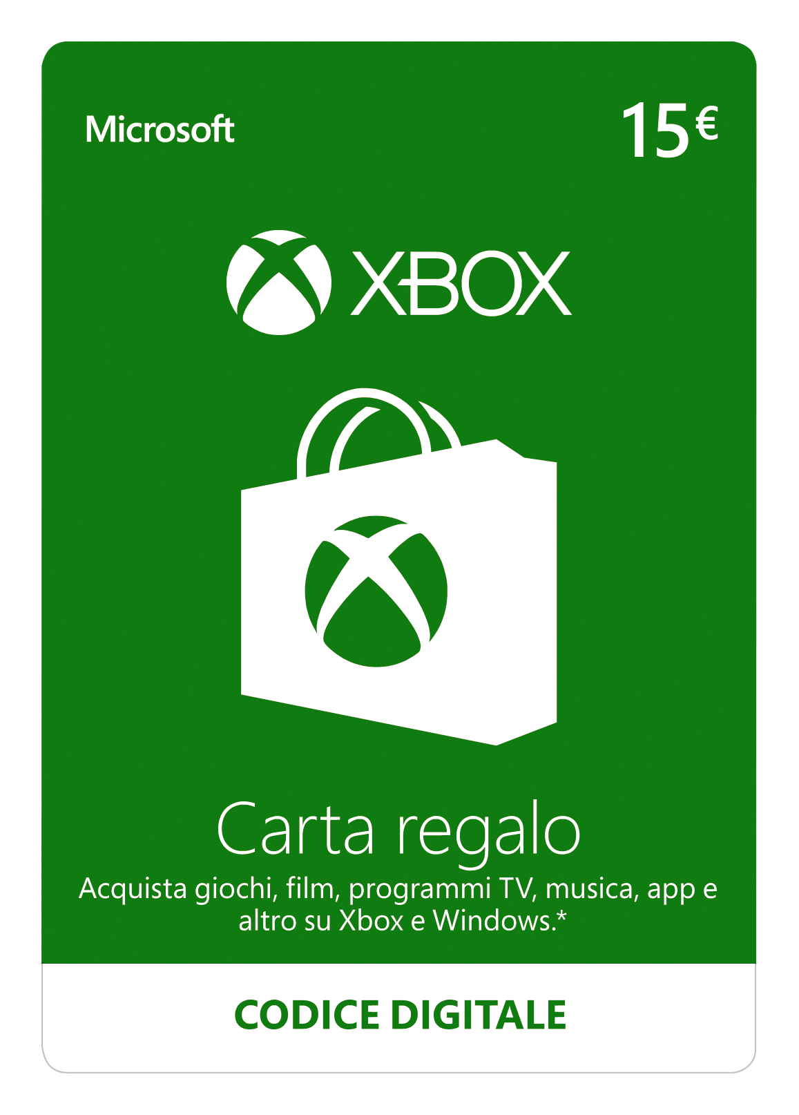 Xbox Live - 15 EUR Carta Regalo [Xbox Live Codice Digital]