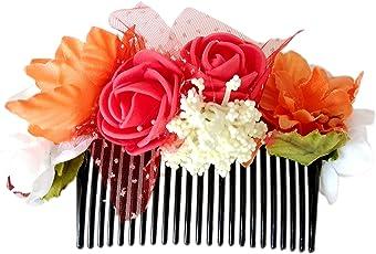 Unique Indian Crafts Non-Precious Metal Foam Sheet Hairpin Comb for Women(Multicolour)