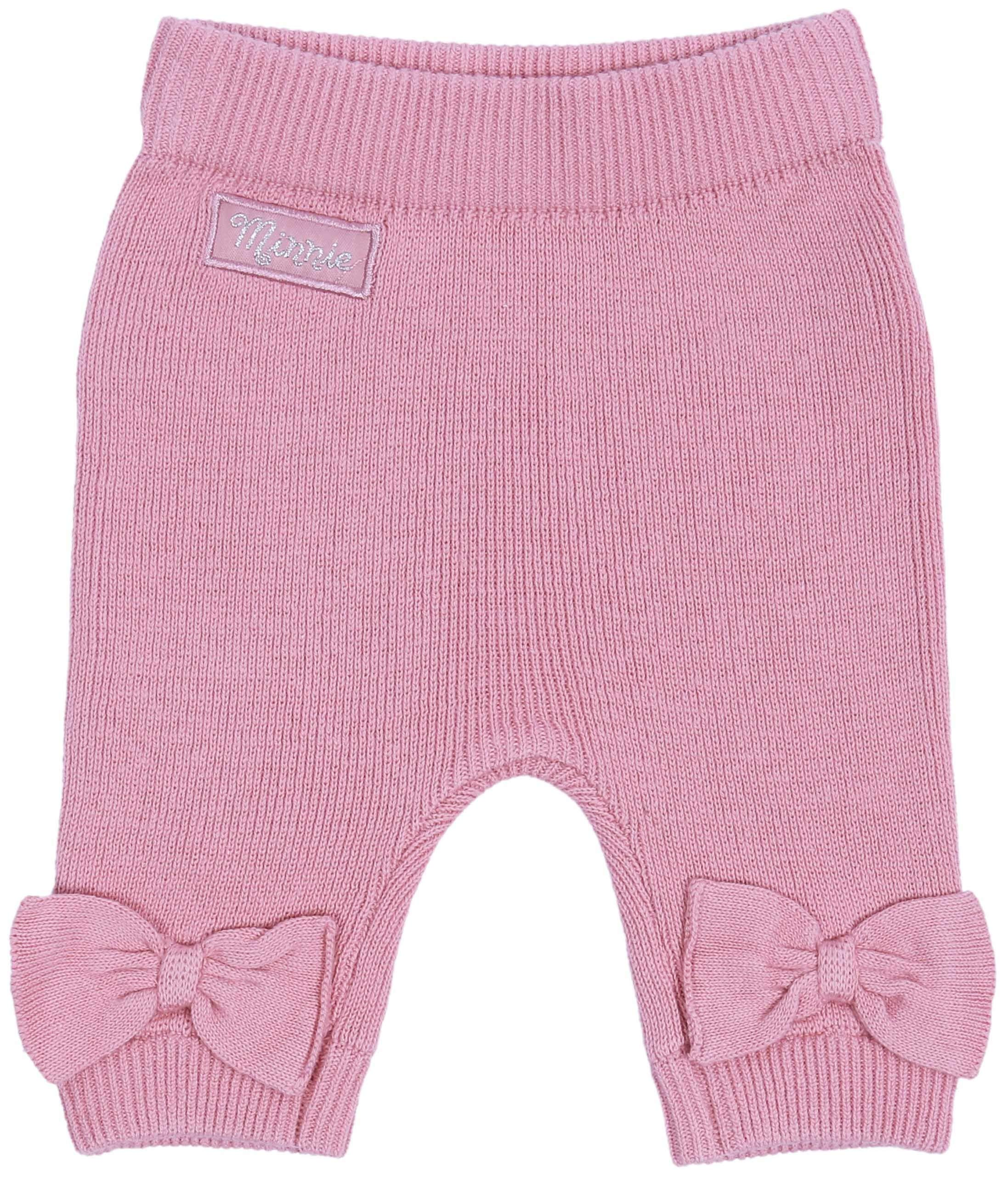 Suéter de bebé + Polainas, Color Gris-Rosa Minnie Disney 5