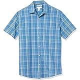 Amazon Essentials Men's Regular-fit Short-Sleeve Chambray Shirt