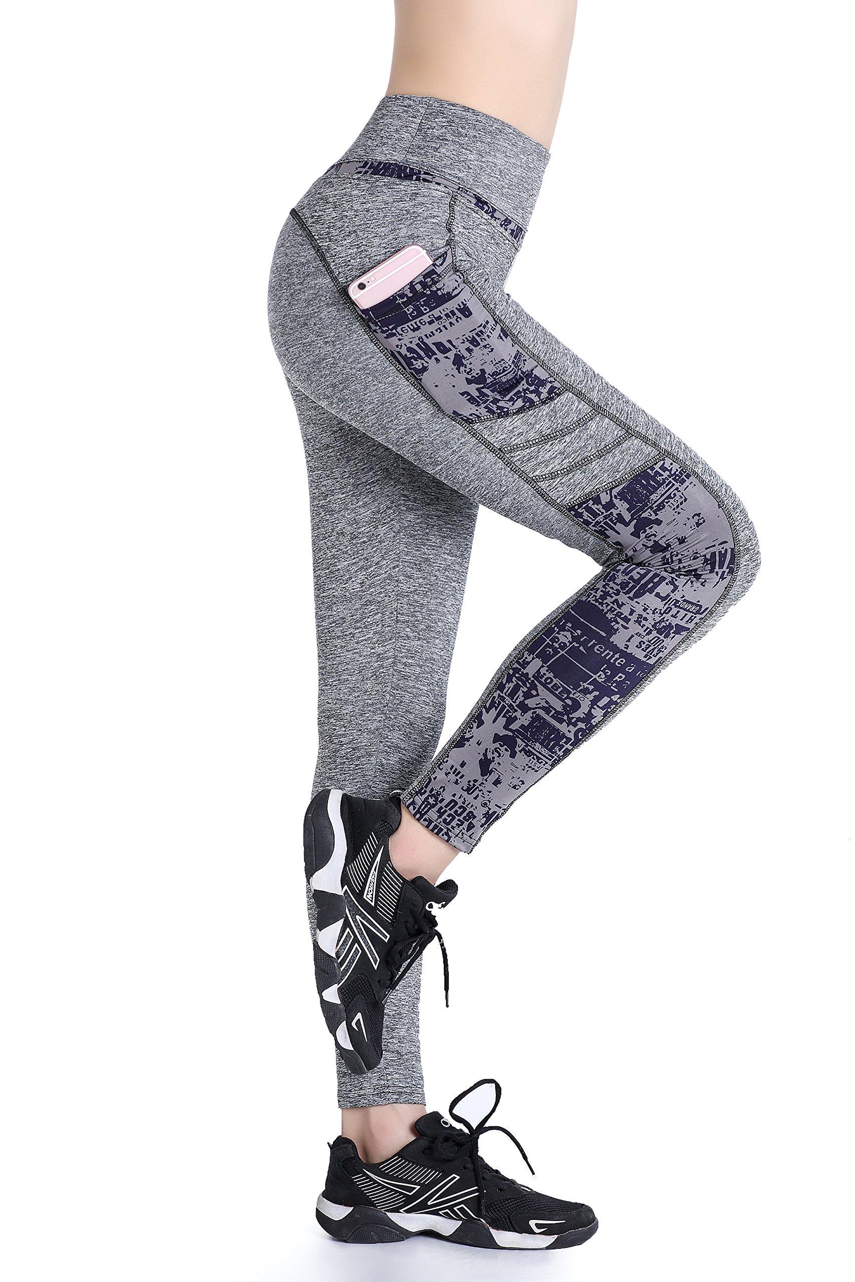 91Eao3v13hL - EAST HONG Women's Yoga Gym Leggings Lycar Active Sports Clothes Fitness Pants 2 Side Pockets