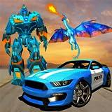 La polizia degli Stati Uniti trasforma i giochi di robot robotici per bambini - battenti la guerra del drago del fuoco 2018