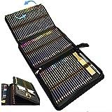 Lapices Acuarelables,Lapices Colores,Lápices de Dibujo y Bosquejo Material de dibujo con Caja de Cremallera Portátil,96 Pcs D