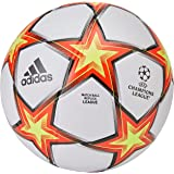 Adidas Unisex's FIN21 LGE Voetbalbal, wit/zonne-rood/zonne-geel/zwart
