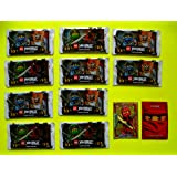 10 LEGO Booster Ninjago Karten Serie 3 - Sie erhalten 10 Packungen mit 5 Karten + BONUS KARTE Serie 2 LEGENDÄRER Kai LE 1
