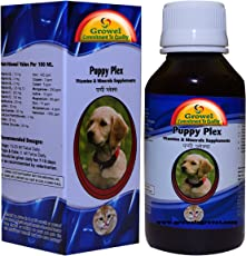 Growel Puppy Plex - Vitamins & Minerals Supplements Of 21 Compositions For Dogs & Puppy -200 Ml