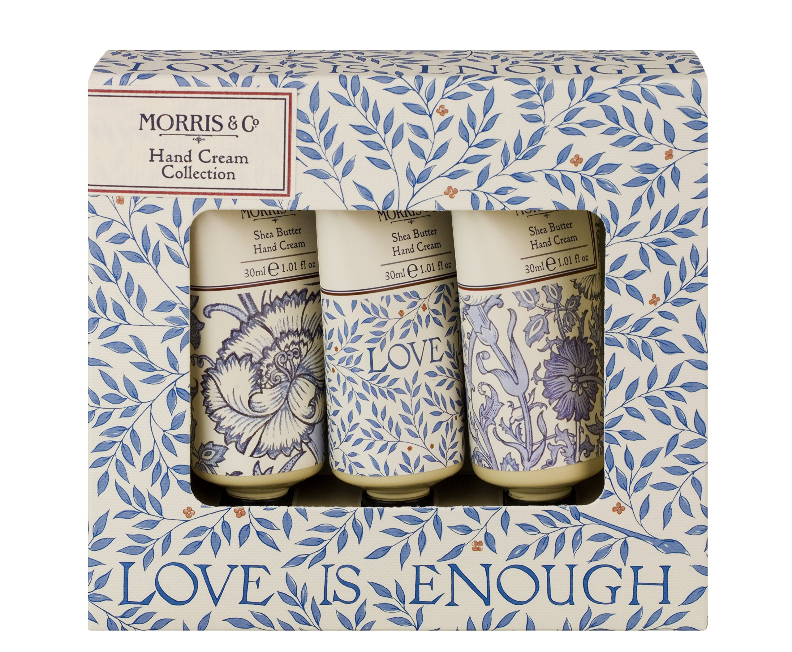 "Morris & Co – Colección de crema de manos""Love is Enough"", 30 ml, paquete de 3 unidades"
