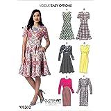 Vogue Mustern 9202E5Damen Kleid, Tissue, mehrfarbig, Größen 14–22